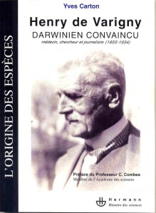 couverture ouvrage Darwinisme de Y. CARTON